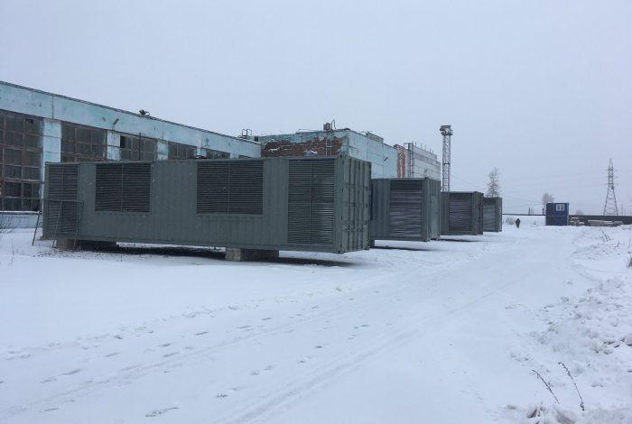 Фото контейнеров подключенных в майнинг-отель Cryptoreactor